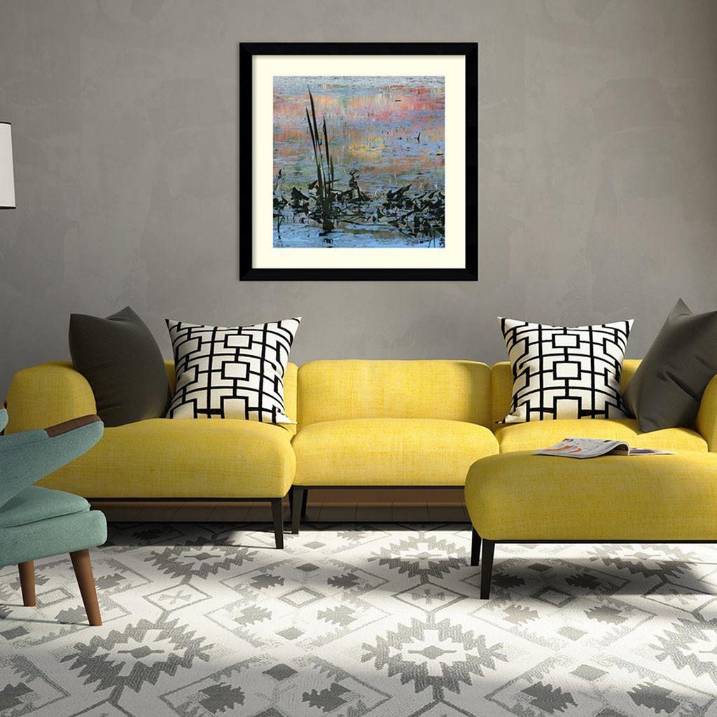 Amanti Art Reeds In Blue Framed Wall Art