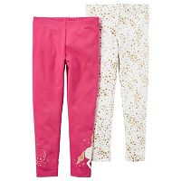 Girls 4-8 Carter's 2-pk. Unicorn & Star Leggings