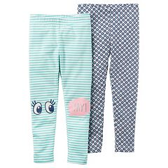 Girls 4-8 Carter's 2 pkPatterned Leggings
