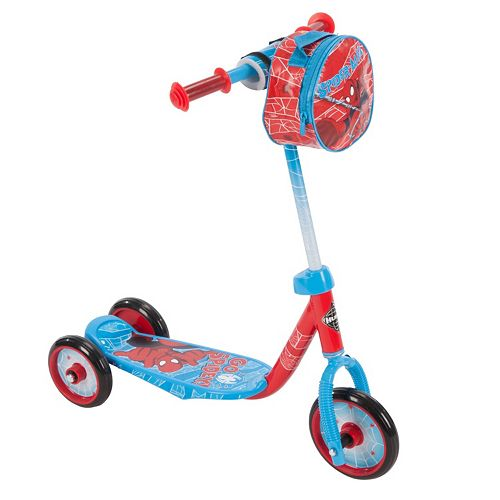 Youth Huffy Marvel Spider-Man 3-Wheel Scooter with Handlebar Bag