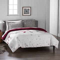 Cuddl Duds Polar Bears Flannel Duvet Cover Set