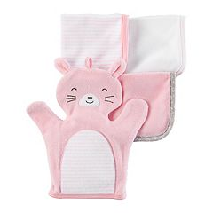 Baby Girl Carter's 4-pk. Square & Bunny Washcloths