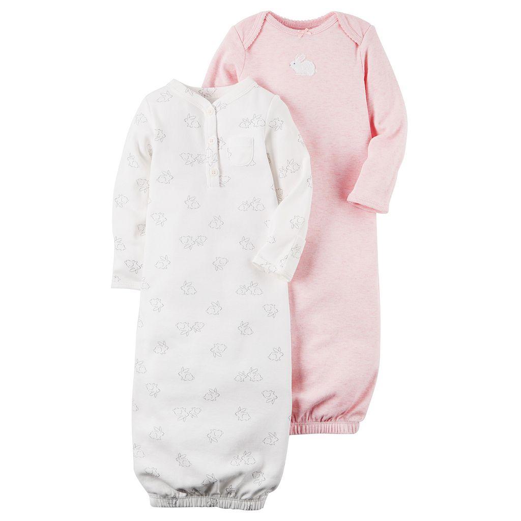 Baby Girl Carter's 2-pk. Bunny Sleeper Gowns