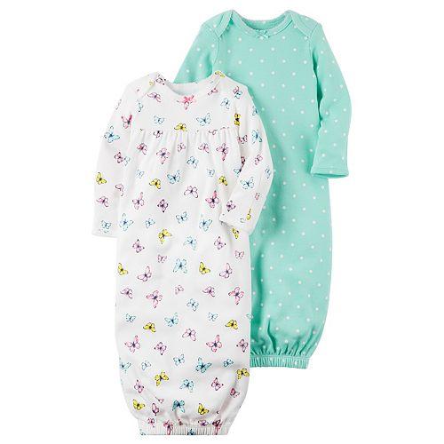 Baby Girl Carter's 2-pk. Polka-Dot & Butterfly Sleeper Gowns