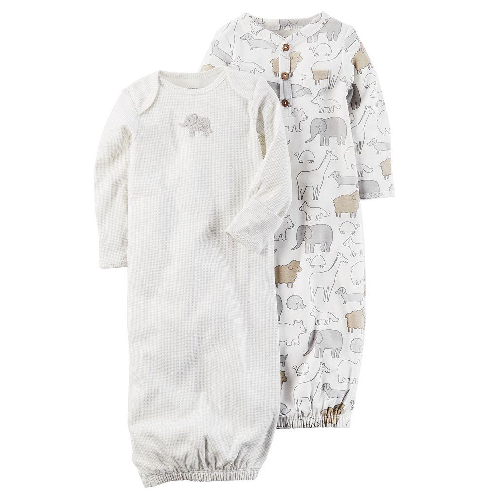 Baby Carter's 2-pk. Animal Babysoft Sleeper Gowns
