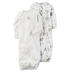 Baby Carter's 2-pk. Animal Babysoft Sleeper Gowns