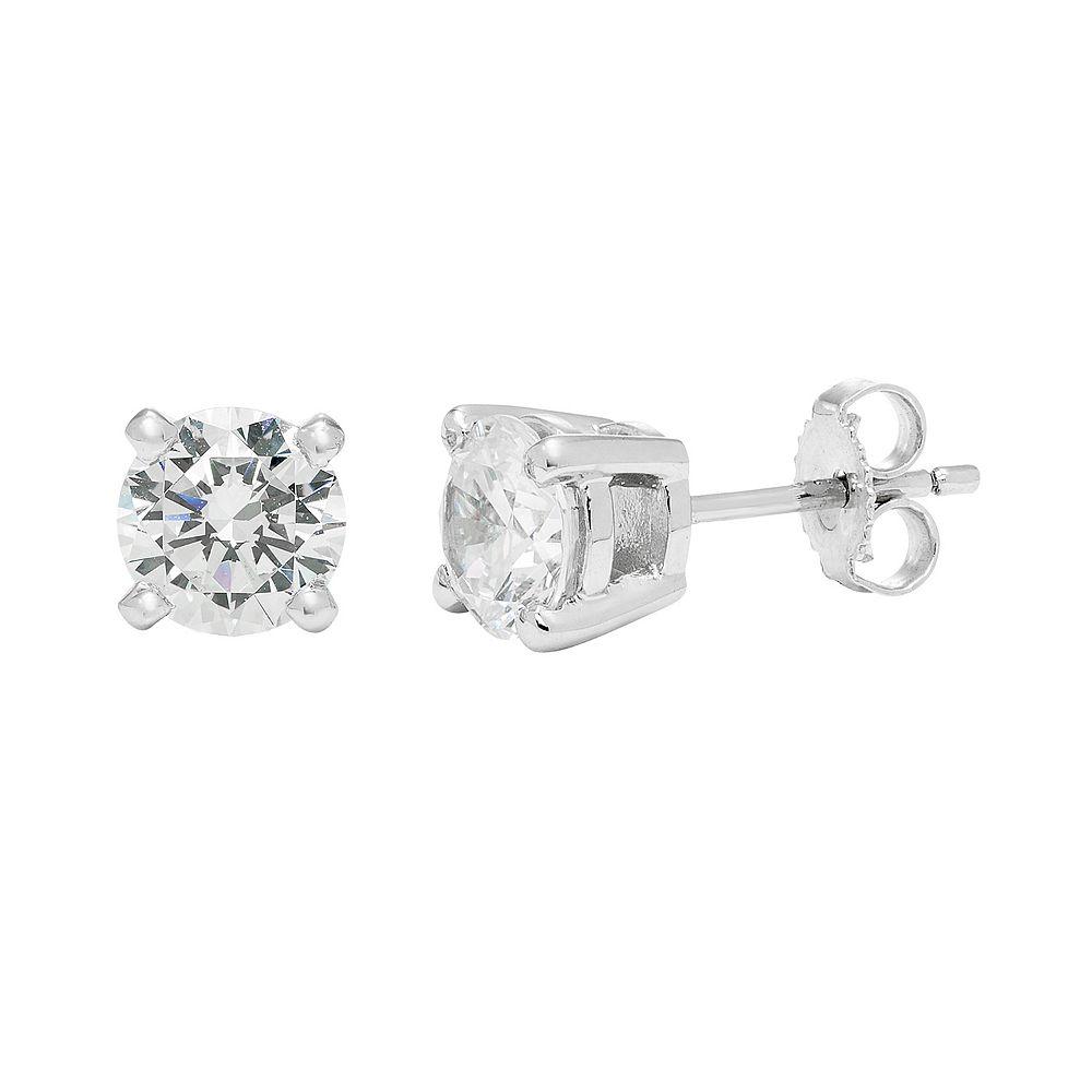 24353fae3 14k White Gold 2 Carat T.W. Lab-Created Moissanite Stud Earrings
