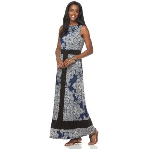 Women's Chaps Paisley Maxi Dress