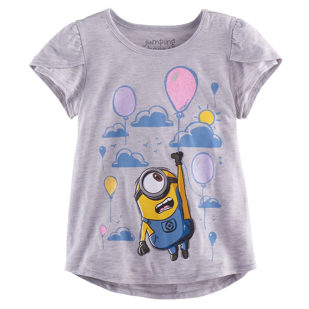 Girls 4-10 Jumping Beans® Despicable Me Minion Balloon Tee