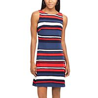 Women's Chaps Striped & Floral A-Line Dress