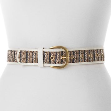 Women's Apt. 9® Straw Striped Belt