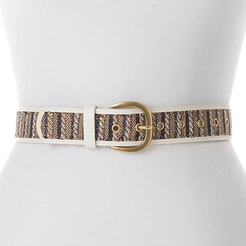 Women's Apt. 9® Straw Striped Belt