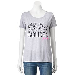 Juniors' The Golden Girls Group Image Graphic Tee