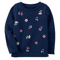 Girls 4-8 Carter's Flower Detail Sweatshirt