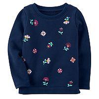 Girls 4-8 Carter's Flower Detail Sweatshirt