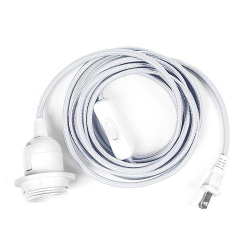 Tadpoles 12-Feet Portable Swag Light Cord Pendant Light Fixture