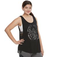 Juniors' Plus Size Marvel Hero Elite Spider-Man Strappy Graphic Tank by Her Universe