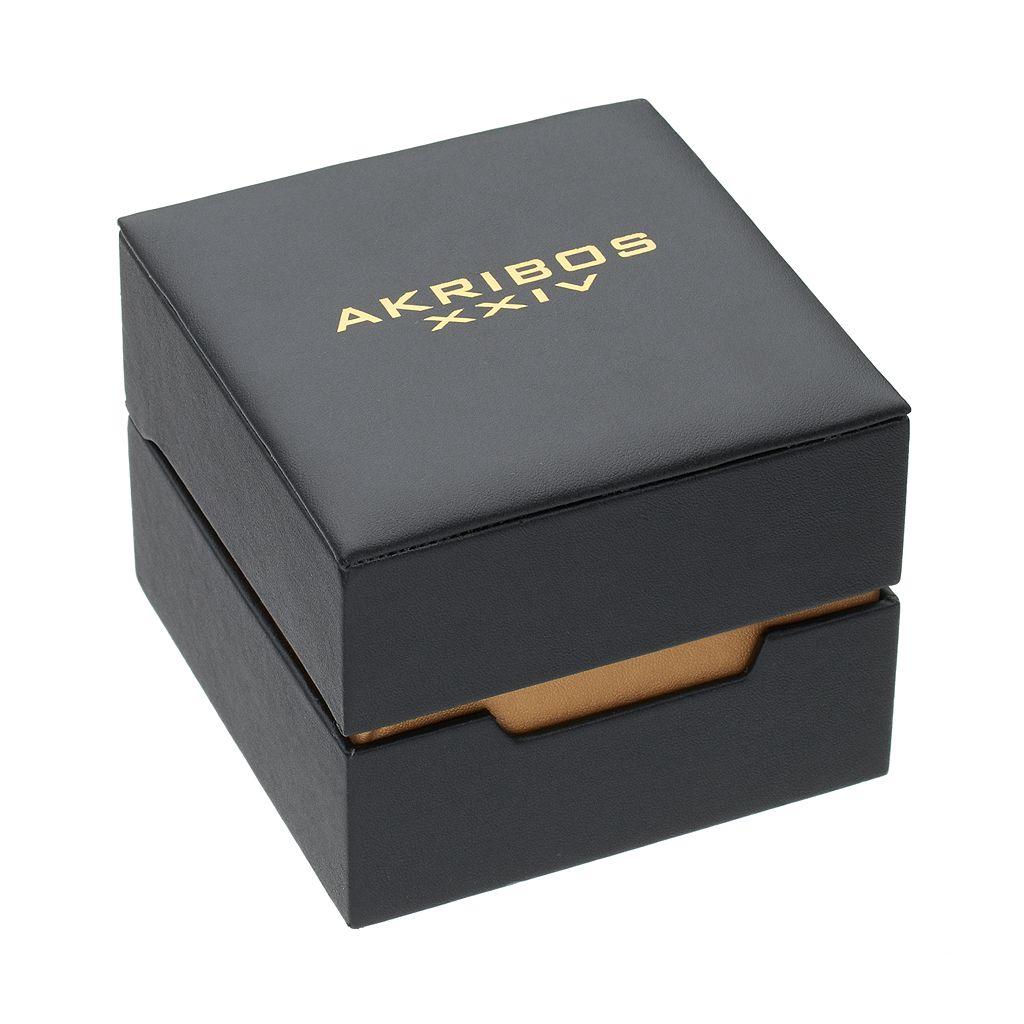 Akribos XXIV Men's Element Leather Watch