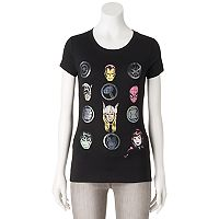 Juniors' Marvel Avengers Icon Grid Graphic Tee