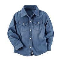 Girls 4-8 Carter's Chambray Shirt