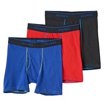 Boys Hanes 3-Pack Knit Boxer Briefs