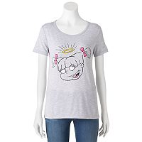Juniors' Nickelodeon Rugrats Angelica Halo Graphic Tee