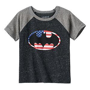 Toddler Boy Jumping Beans® DC Comics Batman American Flag Raglan Tee