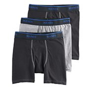 Boys Hanes 3-Pack Dyed Boxer Briefs