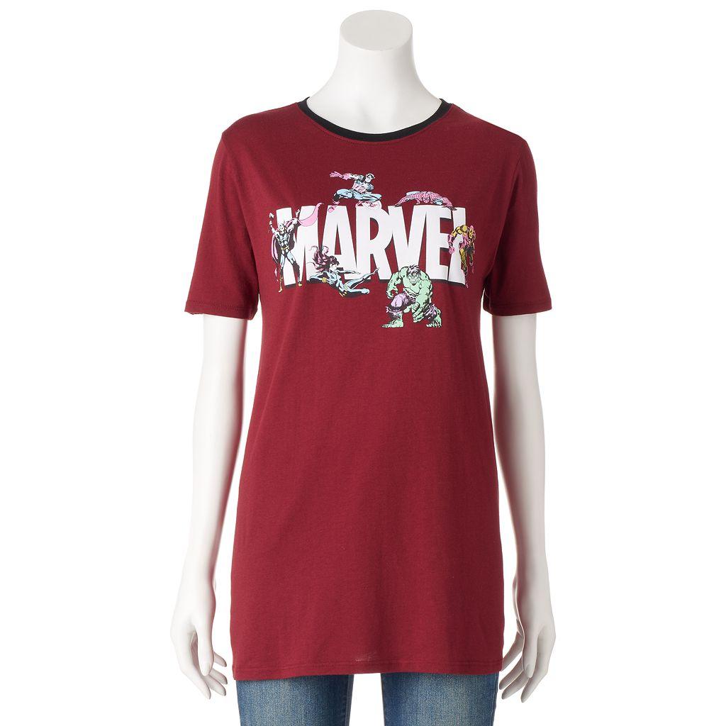 Juniors' Marvel Avengers Superheroes Graphic Tee