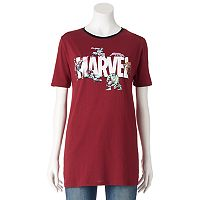Juniors' Marvel Avengers Superheroes Graphic Tee