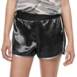 Juniors' Love, Fire Contrast Trim Satin Shorts