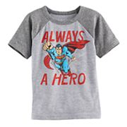 Toddler Boy Jumping Beans® Super-Man 'Always A Hero' Raglan Tee