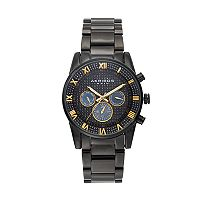 Akribos XXIV Men's Enterprise Crystal Stainless Steel Swiss Watch