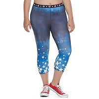 Juniors' Plus Size Marvel Hero Elite Captain America Capri Leggings by Her Universe