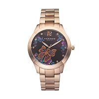 Akribos XXIV Women's Ornate Crystal Butterfly Watch