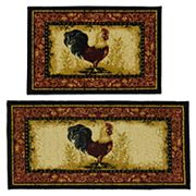 Madison 2 pc Framed Rooster Rug Set