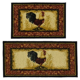 Madison 2-piece Framed Rooster Rug Set