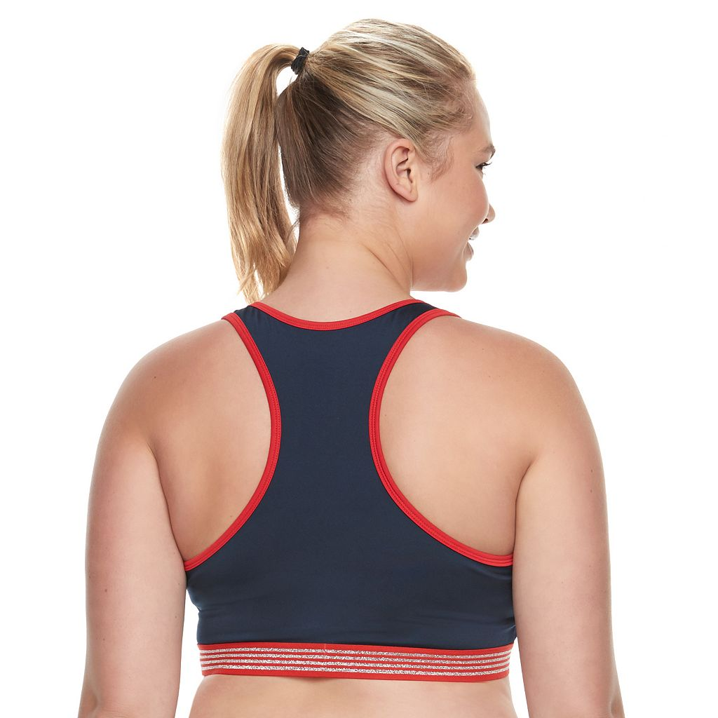 Juniors' Plus Size Marvel Hero Elite Captain America Sports Bra & Tank by Her Universe