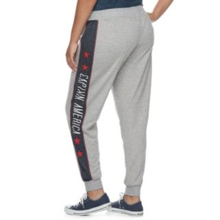 Juniors' Plus Size Marvel Hero Elite Captain America Jogger Pants by Her Universe
