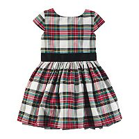 Girls 4-8 Carter's Plaid Holiday Dress