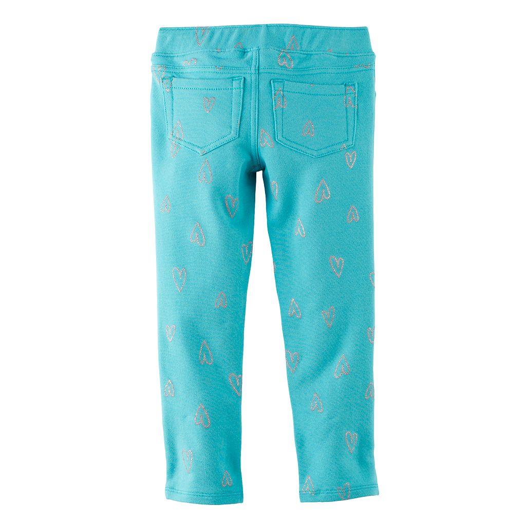 Toddler Girl Jumping Beans® Print Glitter Leggings