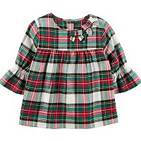 Girls 4-8 Carter's Plaid Ruffled Top