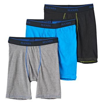 Boys Hanes 3-Pack Boxer Briefs