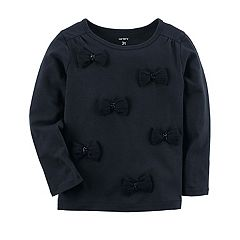 Girls 4-8 Carter's Black 3D Bow Knit Top