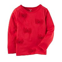Girls 4-8 Carter's Tulle Bow Top