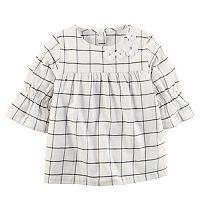 Girls 4-8 Carter's Striped Ruffle Sleeve Top