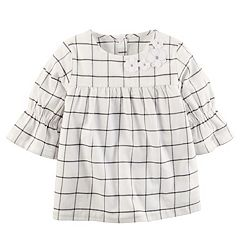 Girls 4-8 Carter's Striped Ruffle Sleeve Top
