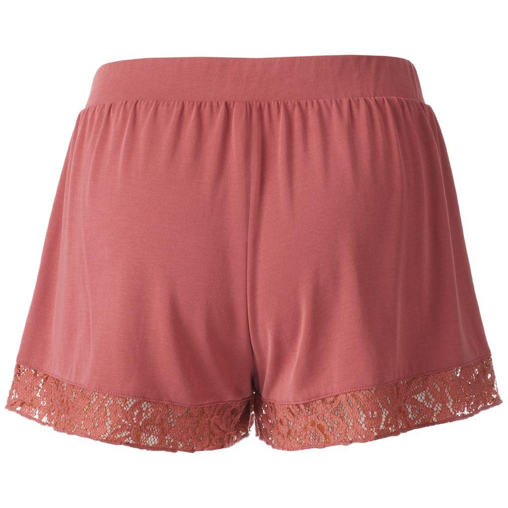 Juniors' Mudd® Lace Hem Shortie Shorts