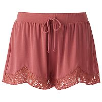 Juniors' Mudd® Lace Hem Shortie Shorts