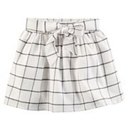 Girls 4-8 Carter's Windowpane Flannel Skirt